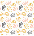 newborn cute girl seamless pattern with vector image