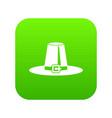 pilgrim hat icon digital green vector image vector image