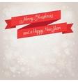 postcard merry christmas beige background vector image vector image
