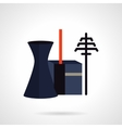 Power plant and towers flat icon vector image vector image
