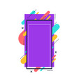 purple collage frame for story content vector image vector image
