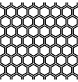 Repeating black and white hexagon pattern vector image vector image
