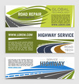 road construction and repair banner template set vector image