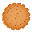 round cracker biscuit icon cartoon style vector image
