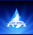 save the earth and water concept vector image