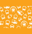 seamless background of public transport vector image