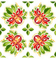 seamless decorative flowers ornament vector image