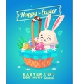 set easter characters cute cartoons vector image
