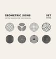 set eight minimalistic trendy shapes stylish vector image vector image