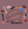 set of your nude lipsticks vector image