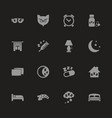 sleep - flat icons vector image