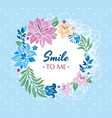 smile to me gift card vector image