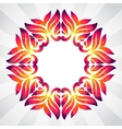 Spring frame of colorful abstract leaves vector image