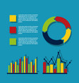 statistics data analysis business vector image vector image