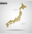 stylized japan map vector image
