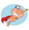 Super Hero Pig vector image vector image