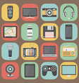 technology colorful flat design icons vector image