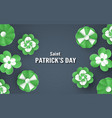template for st patricks day on sunday march 17 vector image