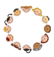 The world children in a circle kids smile white vector image