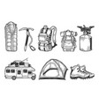 tourist set sketch vector image vector image