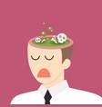 toxic idea in businessman head vector image vector image