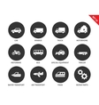 Transport icons on white background vector image vector image