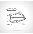 Unmanned aerial robot line icon vector image vector image