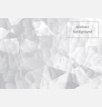 white and gray abstract background vector image vector image