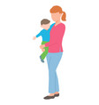 young mother holding her baby vector image