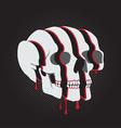 Color Skull in 3D Glasses vector image