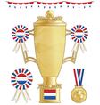 netherlands football trophy vector image