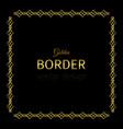 golden square border vector image