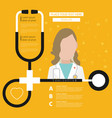 stethoscope health care flat with text vector image