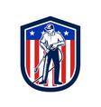 american pressure washing usa flag shield retro vector image vector image