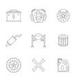 Auto service linear icons vector image vector image
