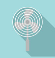 blade protect fan icon flat style vector image vector image