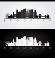 brooklyn new york city usa skyline and landmarks vector image vector image