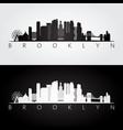 brooklyn new york city usa skyline and landmarks vector image vector image