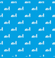 building plant pattern seamless blue vector image vector image