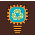 bulb recycle concept vector image