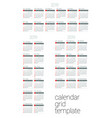 calendar blank template for 2019 year vector image