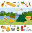 camping children summer camp park vector image vector image