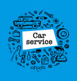 Car service concept web banner with scene