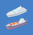 cargo ship passenger liner marine vessels vector image