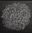 cartoon cute doodles back to school phrase vector image vector image
