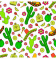colorful cartoon hand-drawn doodles on the subject vector image vector image