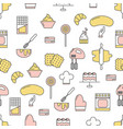 confectionery flat line art decorative vector image