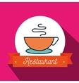 cup coffee restaurant icon vector image vector image