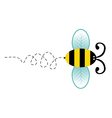 Cute bee cartoon character vector image