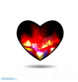 design elements for valentines day heart black vector image